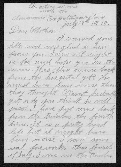William J. Rombeck, World War I soldier - Page