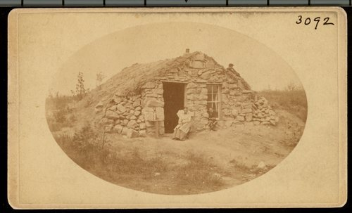 Stone dugout in Osborne County, Kansas - Page