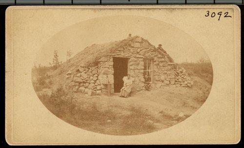 Stone dugout in Osborne County, Kansas - Page