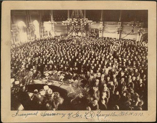 Governor Lorenzo Dow Lewelling's inauguration - Page