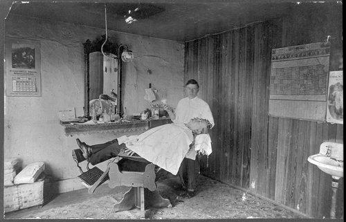 Barber shop, Bentley, Kansas - Page