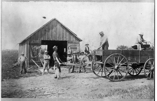 Judd Couch's blacksmith shop, Bentley, Kansas - Page