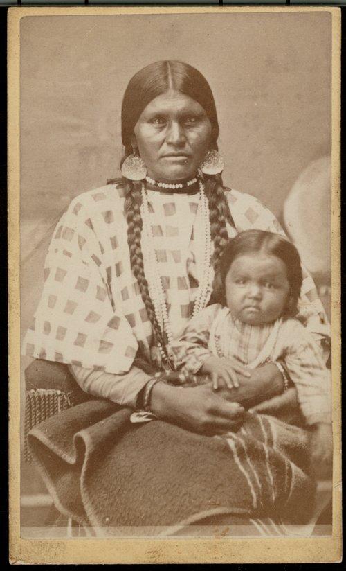 Nez Perce woman and child - Page