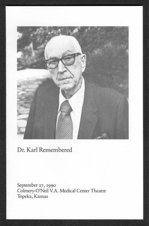Dr. Karl Menninger remembered - Page