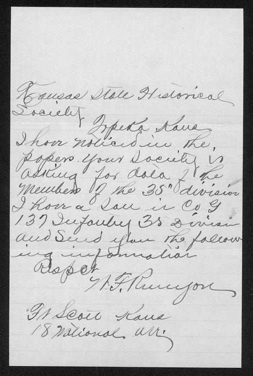 Eugene Runyon, World War I soldier - Page