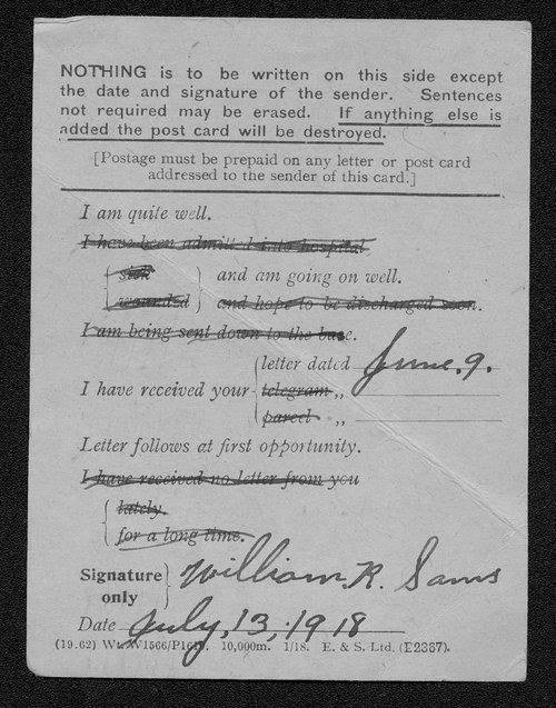 William Robert Sams, World War I soldier - Page