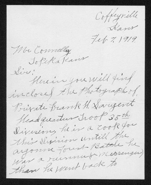 Frank H. Sargent, World War I soldier - Page