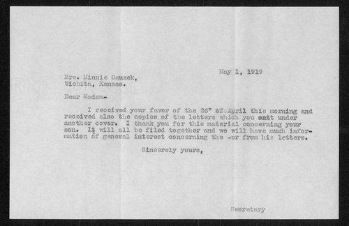 Edward August Sauzek, World War I soldier - Page