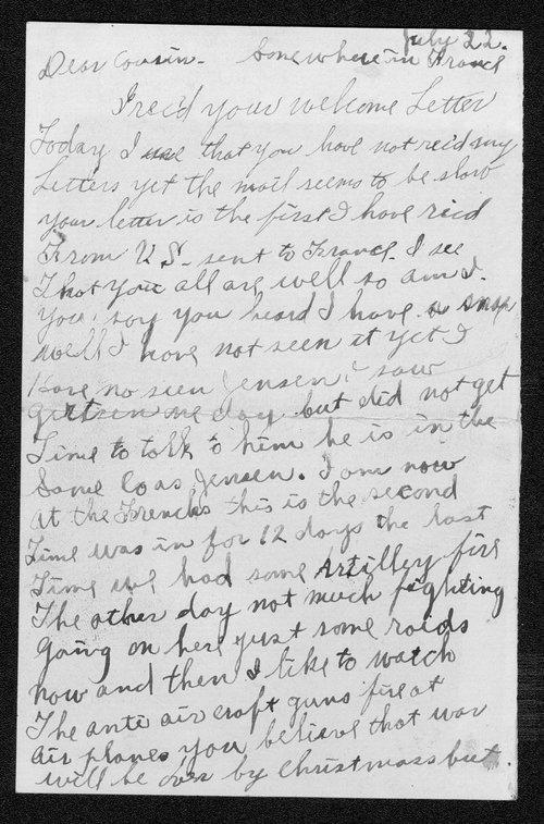 Oscar J. Ingebretsen, World War I soldier - Page