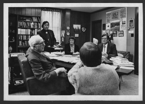 Karl Menninger, M.D.  with members of the Navajo Indian Conference - Page