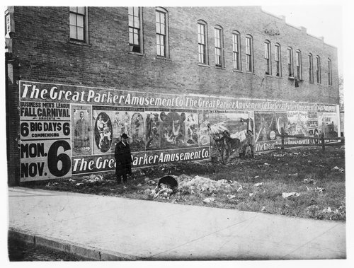 C. W. Parker Amusement Company billboard in Abilene, Kansas - Page