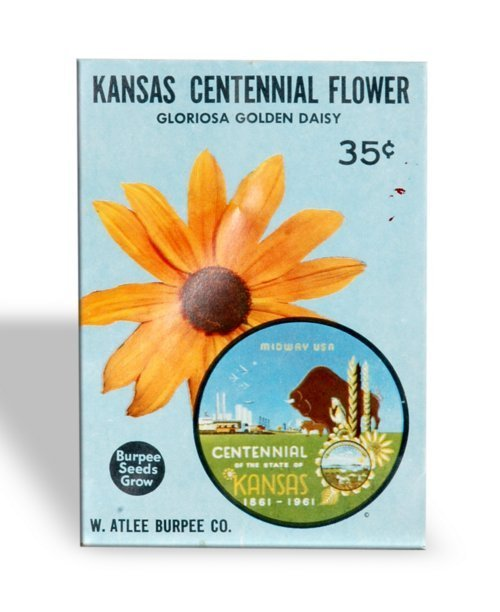 Kansas Centennial sunflower seedpackets