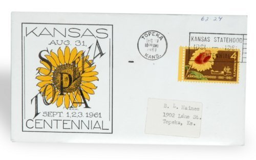 Kansas Centennial envelope - Page