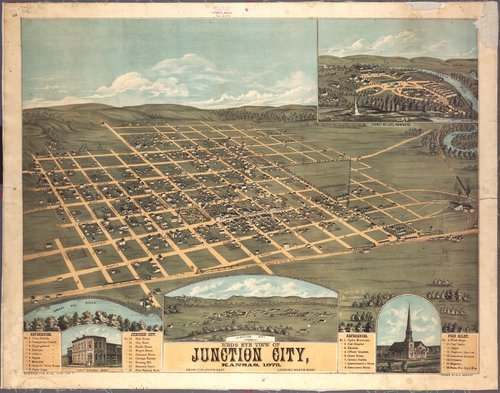 Bird's eye view of Junction City, Kansas - Page