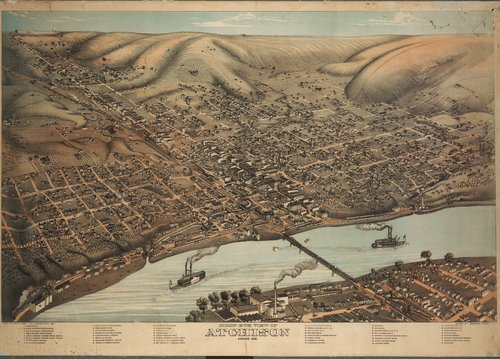 Birds eye view of Atchison, Kansas - Page