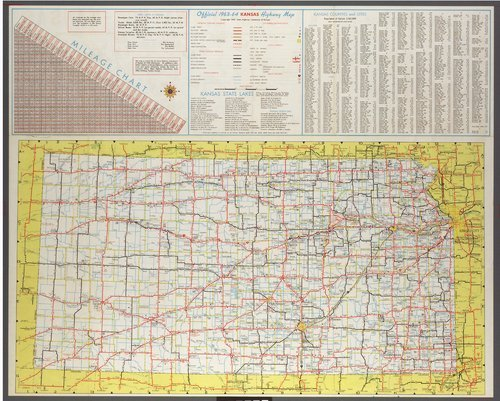 Official 1963-64 Kansas highway map - Page