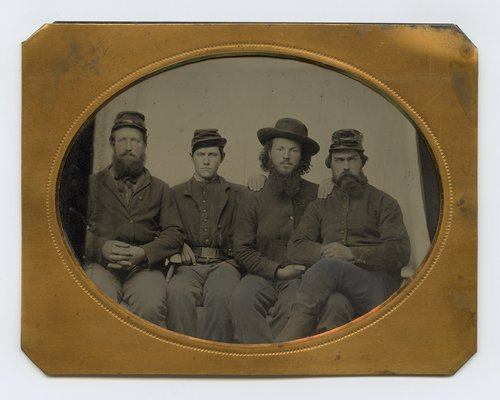 Four soldiers from the 7th Kansas Volunteer Cavalry - Page