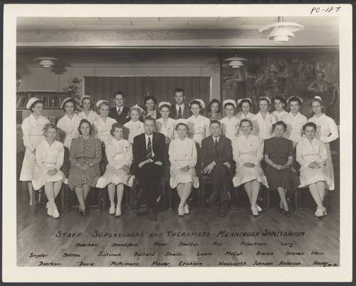 Therapy staff at Menninger Clinic, Topeka, Kansas - Page