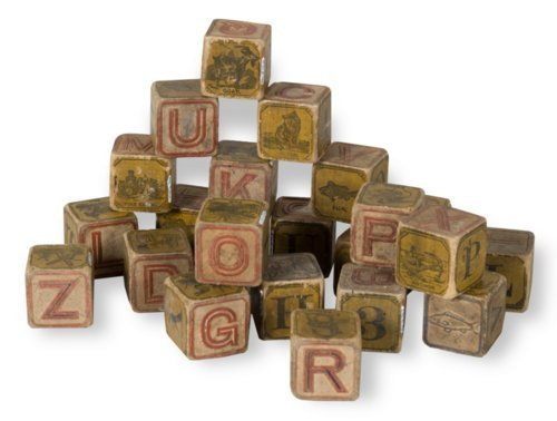 Wooden alphabet blocks - Page