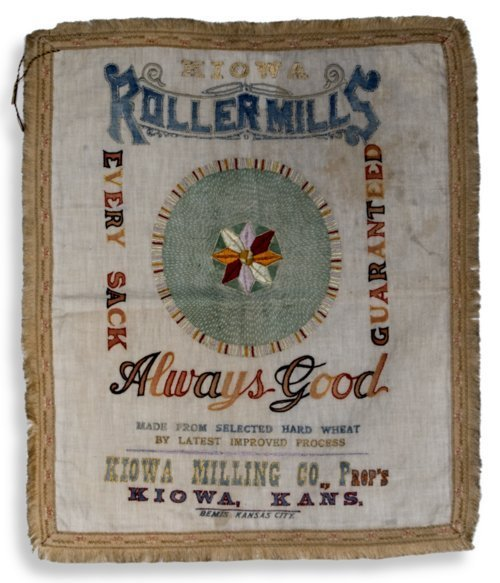 Embroidered flour sack - Page
