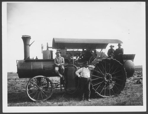 Reeves steam engine in western Kansas - Page