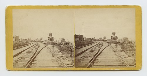 Railroad yard at Wyandotte, Kansas. 286 miles west of St. Louis, Missouri - Page