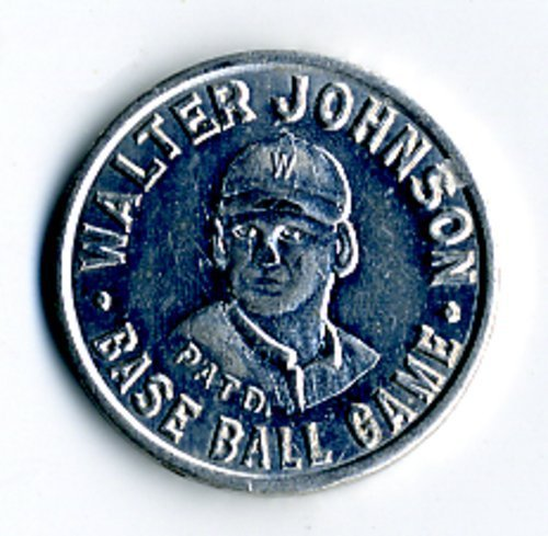 Walter Johnson baseball game piece - Page