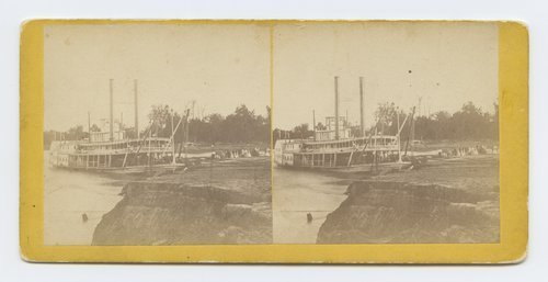 Steamer Mary Mac Donald at Wyandotte, Missouri River, Kansas.  286 miles west of St. Louis Mo. - Page