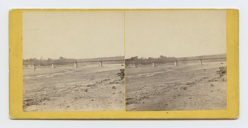 Turnpike bridge across the Kanas River, near Wyandotte, Kansas.  287 miles west of St. Louis, MO. - Page