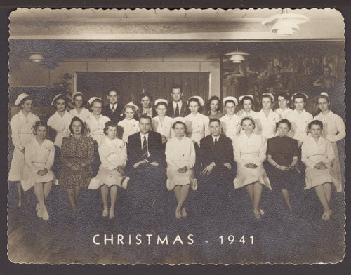 Christmas card from the Menninger School of Psychiatric Nursing in Topeka, Kansas - Page