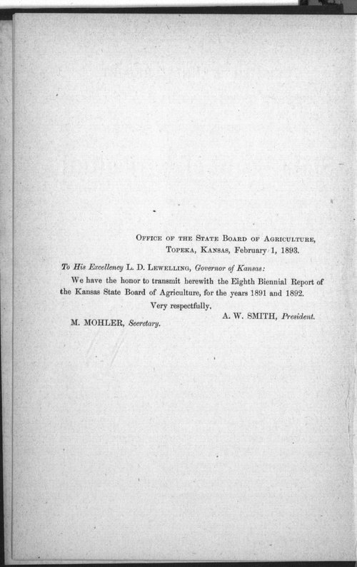 Eighth biennial report of the Kansas State Board of Agriculture, 1891-1892 - Page