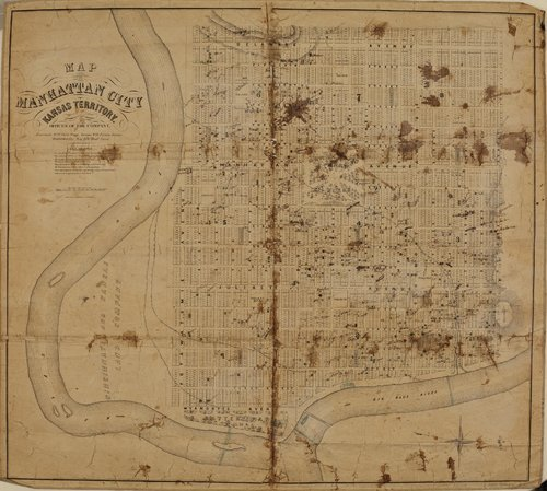 Map of Manhattan, Kansas Territory - Page