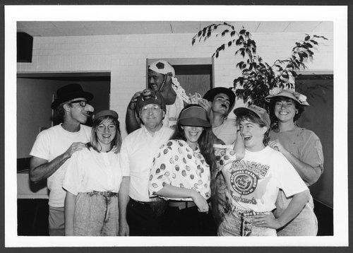 """Activity Therapy staff on 'Hat Day"""" at Menninger Clinic in Topeka, Kansas - Page"""