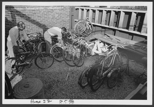 Bicycle repair activity therapy group at Menninger, Topeka, Kansas - Page