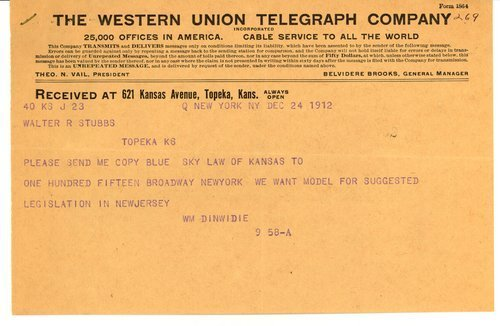 Telegram from William Dinwidie to Governor Walter Roscoe Stubbs - Page