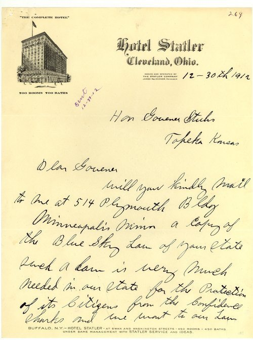 Letter from E. T. Merritt to Governor Walter Roscoe Stubbs - Page