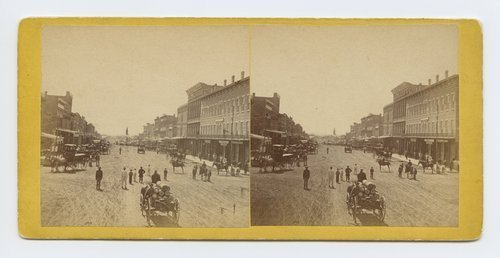 Massachusetts Street, Lawrence, Kansas.  323 miles west of St. Louis, Mo. - Page