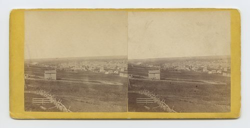 Lawrence, Kansas, from Fort Union-State University on the left. 323 miles west of St. Louis, Mo. - Page