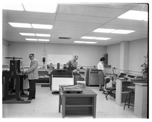 Press room in the Office Services Department of the Menninger Clinic, Topeka, Kansas - Page