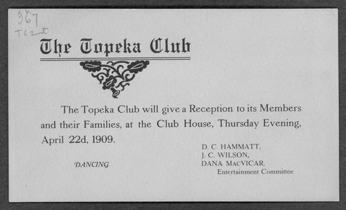 The Topeka Club announcements - Page