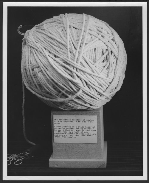 Ball of rope made by a state hospital patient - Page