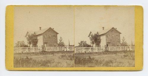 General J. Lane's house, Lawrence, Kansas. 323 miles west of St. Louis, Mo. - Page