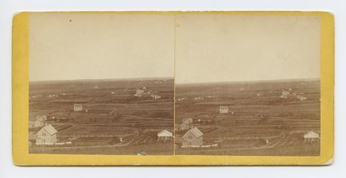 Waukerusa [i.e. Wakarusa] Valley looking east from Mount Oriad [i.e. Oread] Lawrence, Kansas. 323 miles west of St. Louis, Mo. - Page