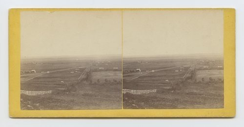 Fort Scott road from Mount Oriad [i.e. Oread], Lawrence, Kansas. 323 miles west of St. Louis, Mo. - Page