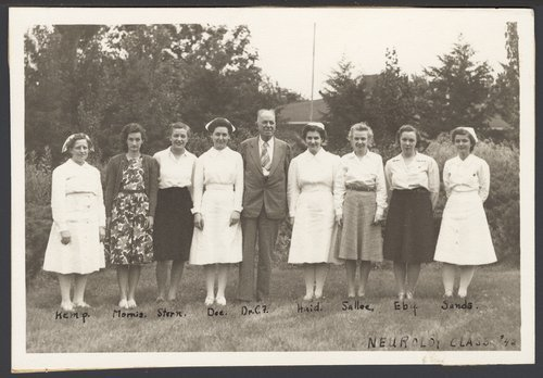 Dr. C.F. Menninger and the nursing staff in 1942 - Page