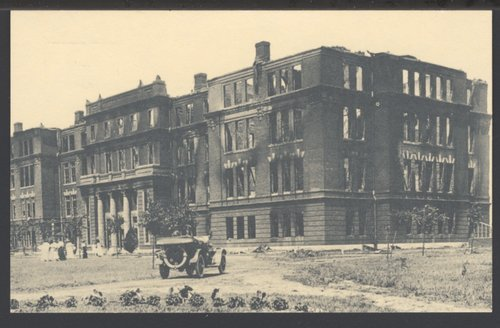Russ Hall after a fire at Pittsburg State University, Pittsburg, Kansas - Page