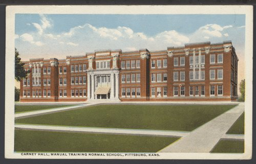Postcard, Pittsburg State University, Pittsburg, Kansas