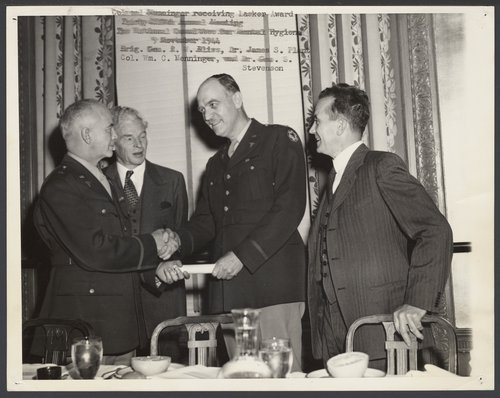 William C. Menninger M.D. while serving in the Army - Page