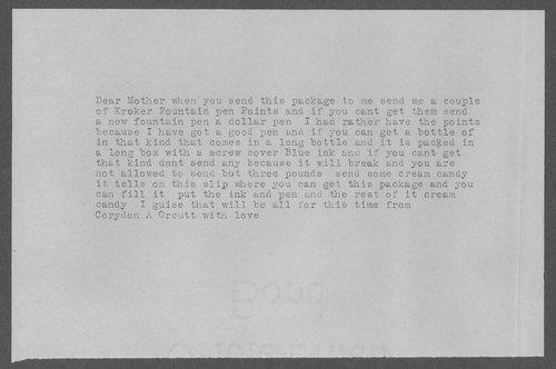 Corydon Orcutt, World War I soldier - Page