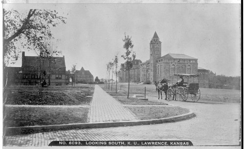 Early campus scene, University of Kansas, Lawrence - Page